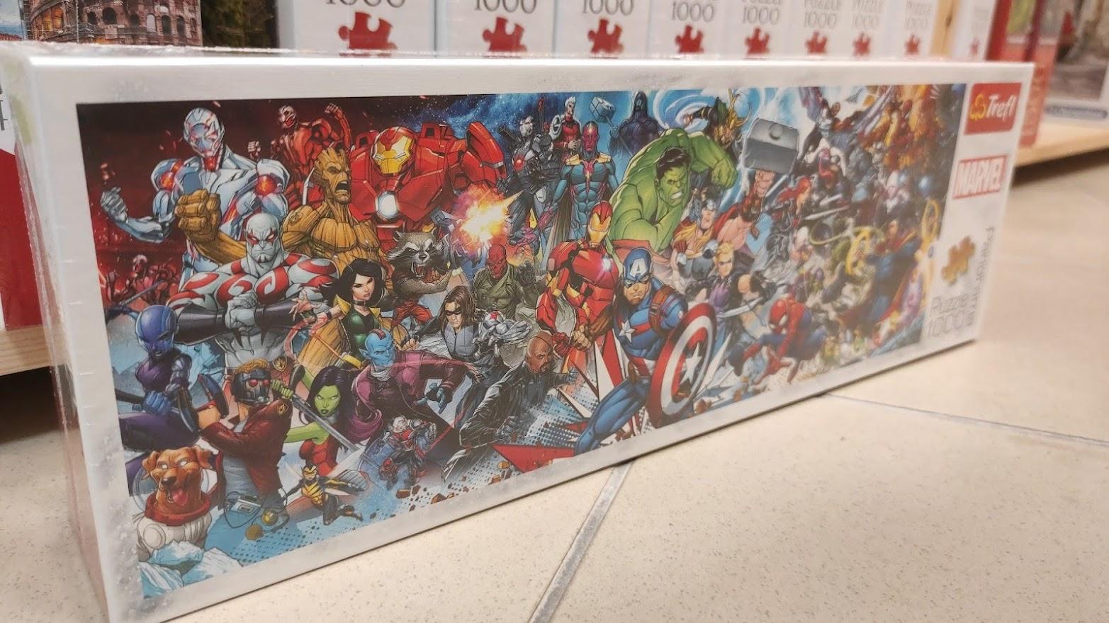 Bosszúállók panoráma puzzle Marvel rajongóknak!