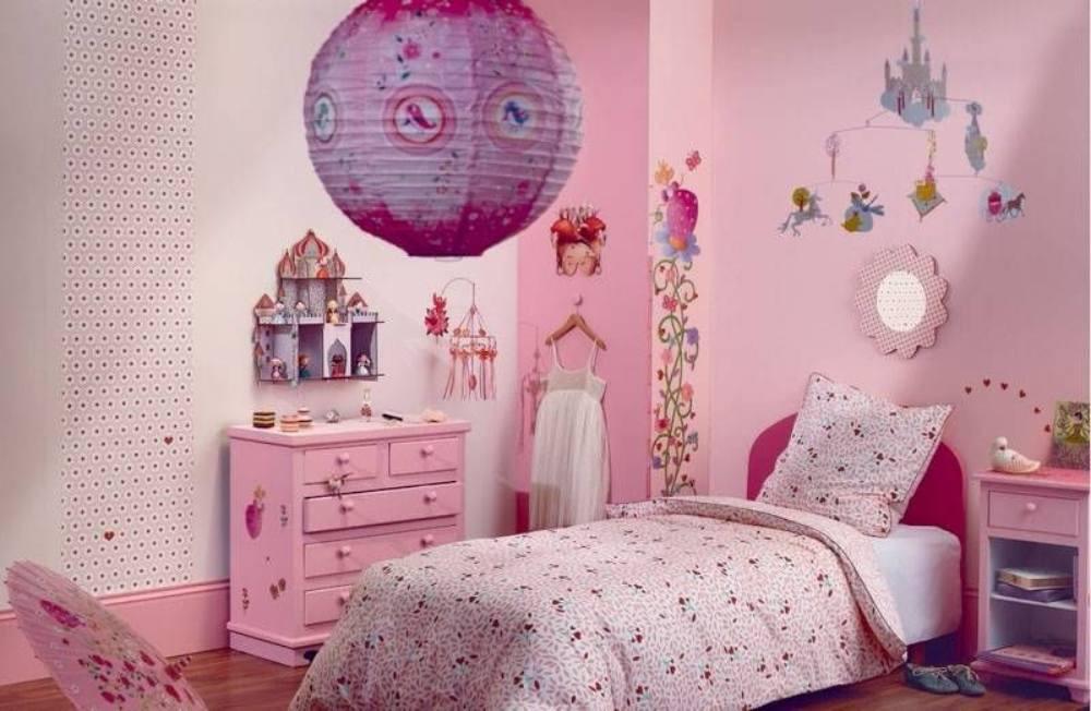 Meseszép rózsaszín gyermek ágynemű.