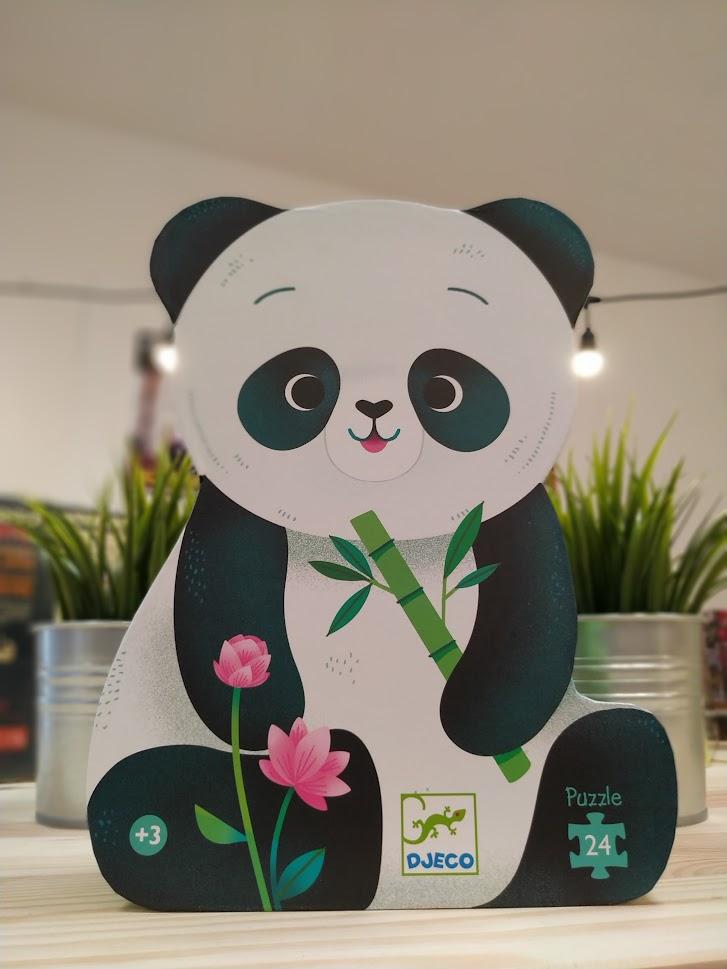 Aranyos pandás formadobozos puzzle a Djeco-tól!